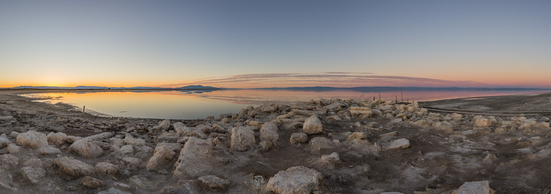Another Twilight / Golden Hour Panorama on the Southern Shore of the Salton Sea