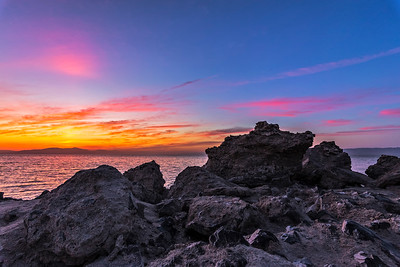 Obsidian Butte Sunset at the Salton Sea