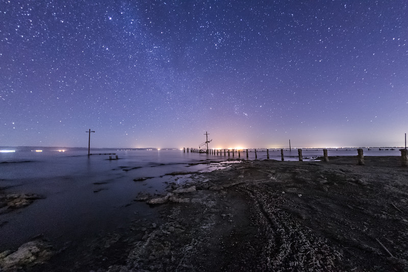 Starry Sky on the Southwest Shore of the Salton Sea