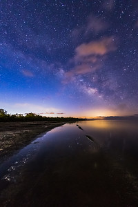 Milky Way at the Salton Sea During the First Light of Day