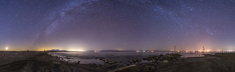 A Night on the Southwestern Shore of the Salton Sea