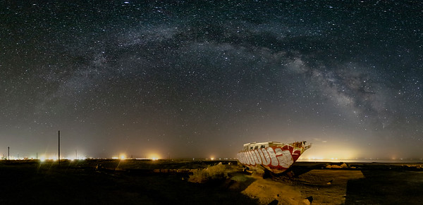 Ghost Ship and the Milky Way at Bombay Beach