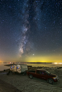 Boondocking Under The Milky Way At The Salton Sea