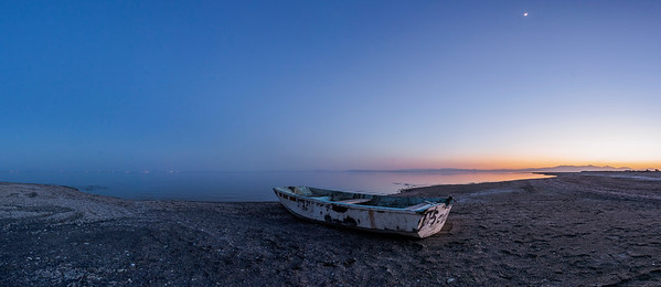 Bombay Beach Blue Hour Boat