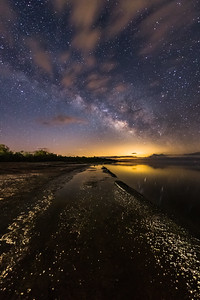 Milky Way Rises Over the Salton Sea