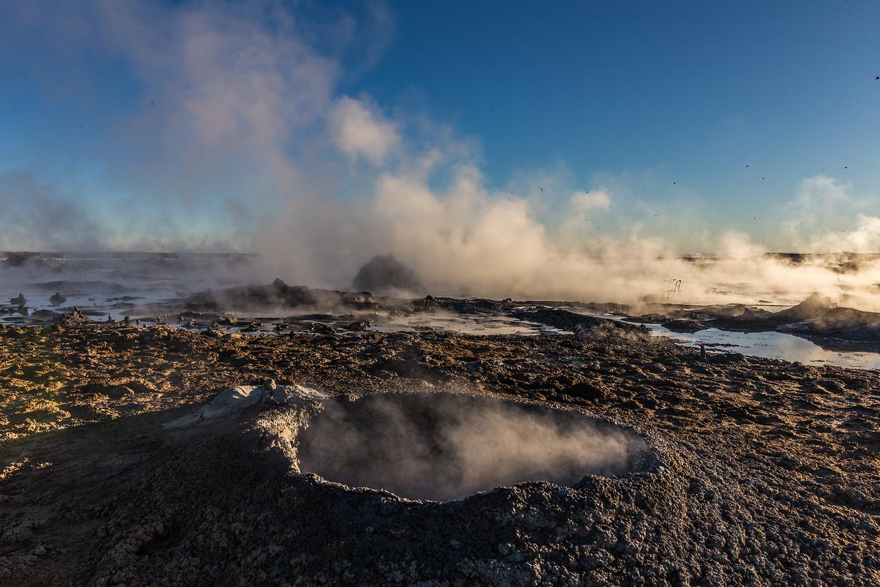 The newer mud pots / mud volcanoes at the Salton Sea.