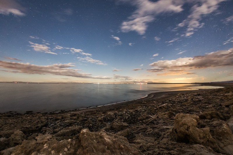 Clouds and Daytime Stars above the Salton Sea