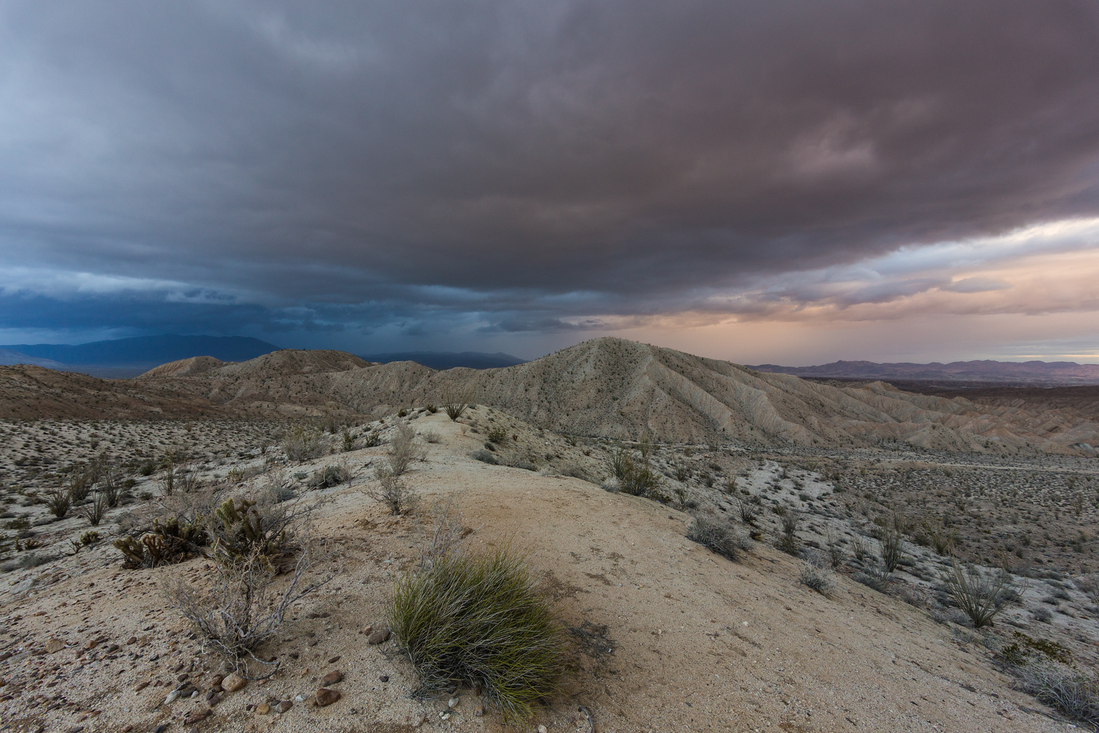 Storm Brewing. Carrizo Badlands Overlook.