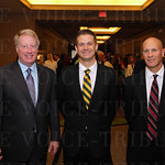 Saint Xavier High School President and CEO Perry Sangalli, Curt White and Larry Bergamini.