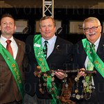 Marcus Bourke, President of the Ancient Order of Hibernians Mark Wakefield and Timothy Bourke.
