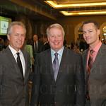 Mayor Greg Fischer, Saint Xavier High School President and CEO Perry Sangalli and Matthew Stebbins.