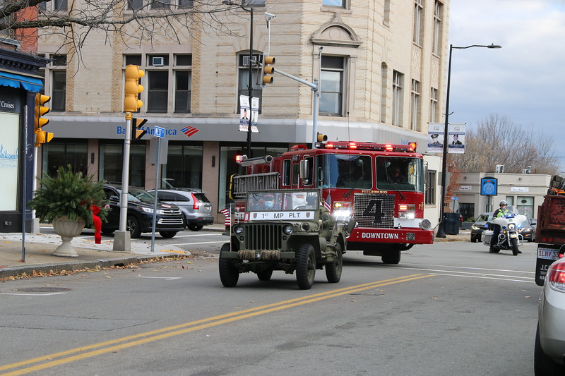 The parade rolls through downtown Leominster