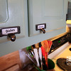 Labeled Cabinets and Drawers