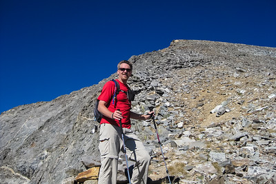 Done with the gully, I set my sights on the west ridge. [Terry Patterson photo]