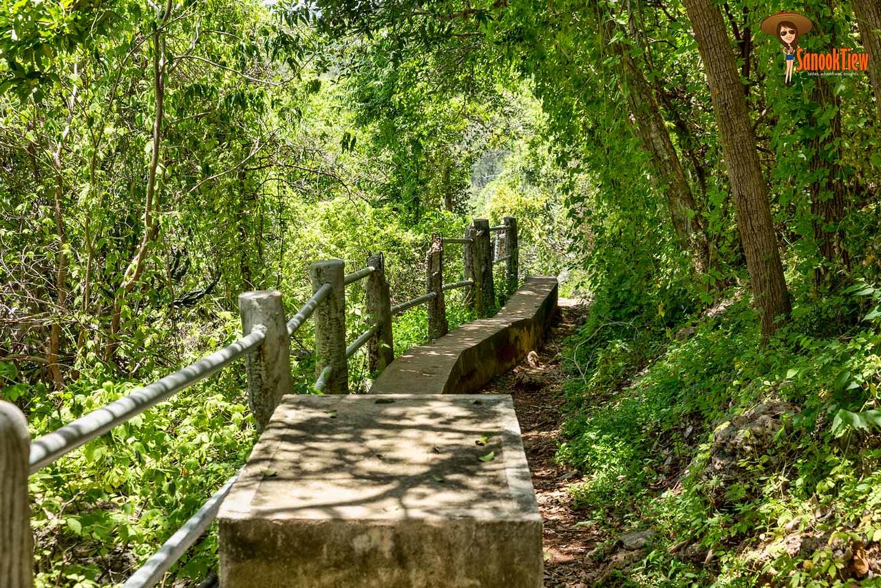 เส้นทางเดินจาก วัดบางปู ที่ หาดบางปู ไปยัง หาดแหลมศาลา ค่ะ