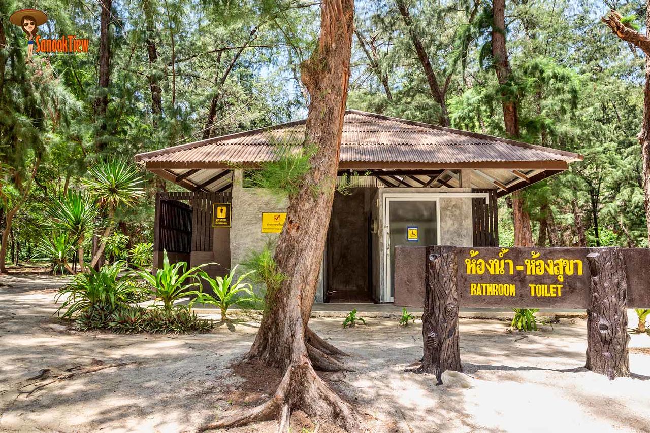ห้องน้ำ ในเขต หาดแหลมศาลา อยู่ใกล้จุดเริ่มเดิน