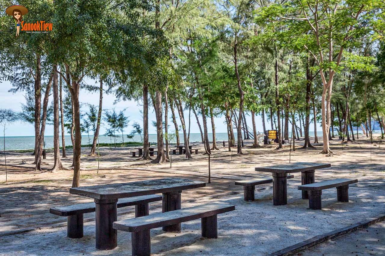 ที่นั่งปิกนิก ชมวิว ที่ หาดสามพระยา