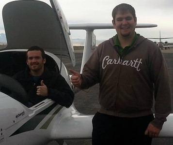 Sam First Solo Flight, Dec 2013