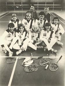 Garðar Alfonsson ásamt badmintonfólki á Íþróttahátíð ÍSÍ 1970.