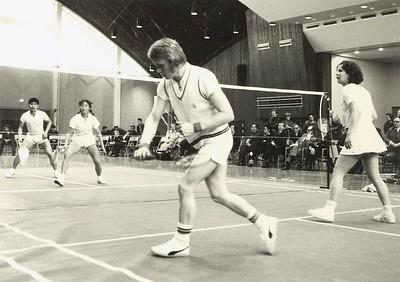Heimsókn kínverja til badmintonkeppni.