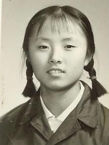 Li Shu-ying Heimsókn kínverja til badmintonkeppni.