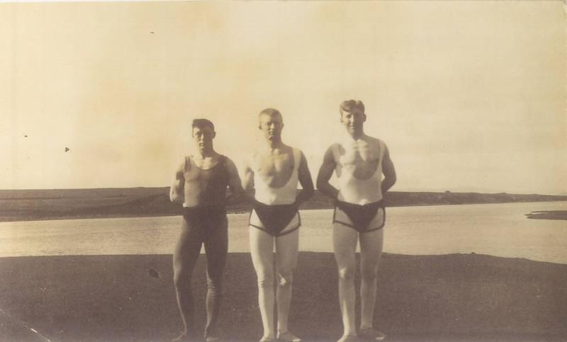 Pétur Guðmundsson, Hallgrímur Benediktsson og Sigurjón Pétursson, líklegast fyrir 1910.