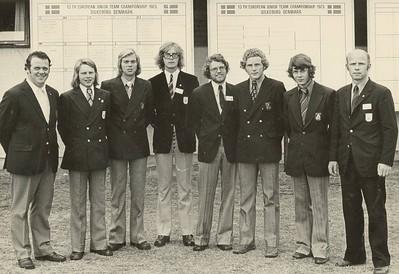 Þátttakendur Íslands í 13. Evrópumóti unglingaliða í golfi í Silkeborg, Danmörku 1983.