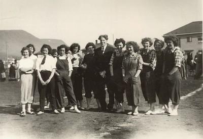 Handknattleikslið á Patreksfirði 1950. Þjálfari Sigþór Lárusson.