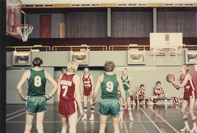 Körfuknattleikur á Sumar Íþróttahátíð 1980. Sumaríþróttahátíð ÍSÍ 1980.
