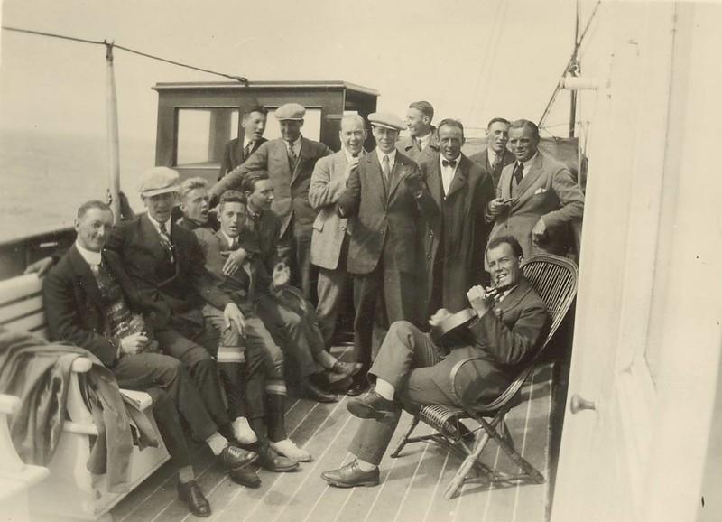 Heimsókn norska liðsins Djerv frá Bergen 1921.