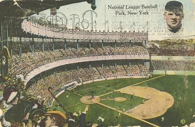 Hafnaboltavöllur í New York, kort frá 1918.