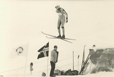 Skíðastökk á vetrar íþróttahátíð 1980.  Vetraríþrótthátíð ÍSÍ 1980.