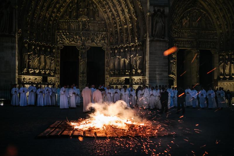 Office des Ténèbres et Vigile pascale à Notre Dame de Paris - 15 04 2017