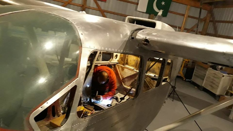 Photos from the restoration of a Cessna Skymaster aircraft at Region of Waterloo International Airport by the International Heritage Aviation Restoration Organization (iHARO). iHARO/Sameer Haqqi Photo