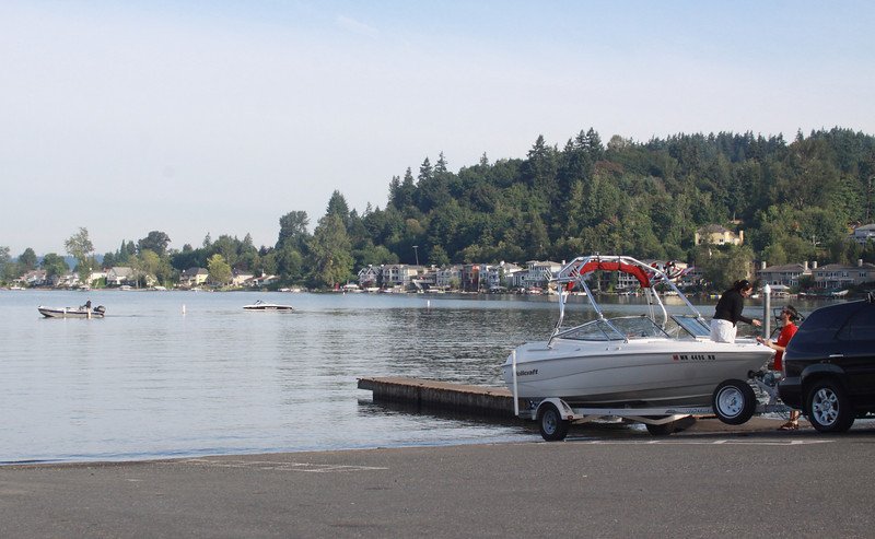 A summer morning begins early at the Lake Sammamish Park launch ramp.