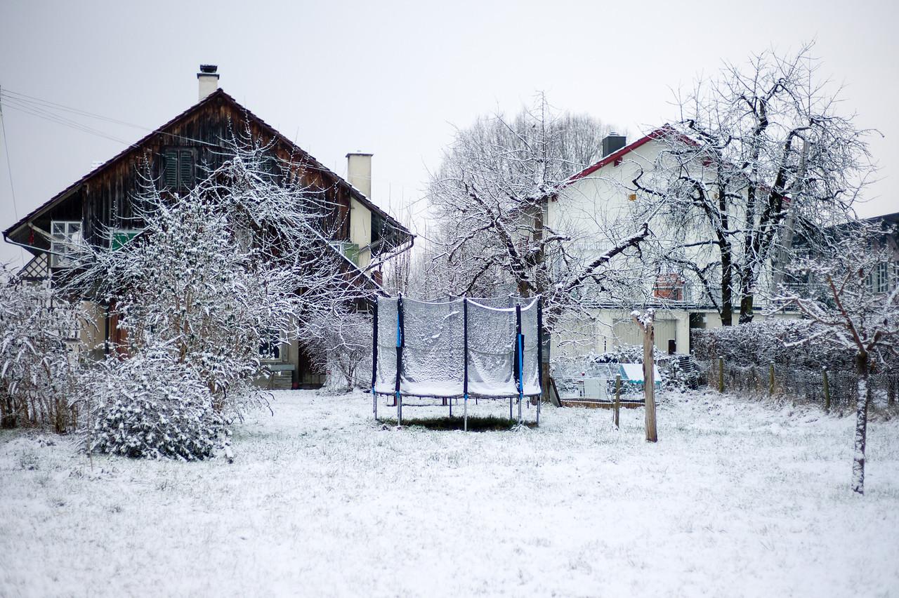 Pfyn, Thurgau.  Schweiz, Januar 2012.