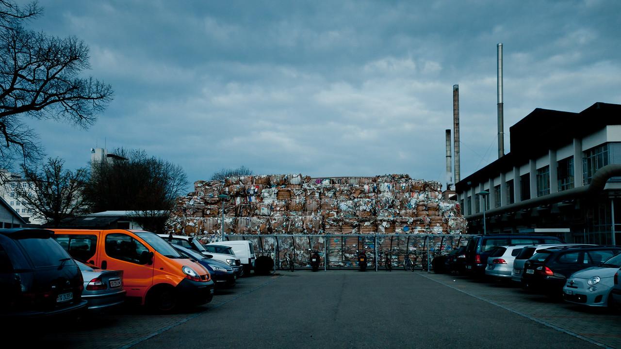 Recycling.  Weinfelden, März 2011.
