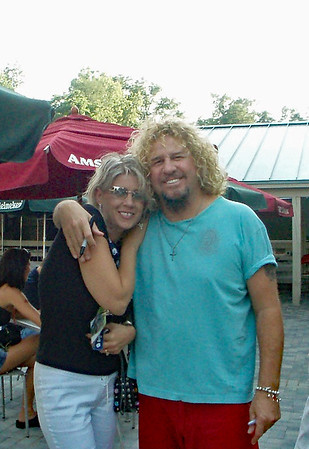 Sammy Hagar with Amber on Stage