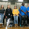 The Samoset Middle School held for the eleventh year the Bring a Veteran To Lunch in honor on Veterans Day Friday, Nov. 8, 2019. Students in the chorus entertained the honored guest during the event with a couple of songs. SENTINEL & ENTERPRISE/JOHN LOVE