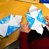 6th graders of Samoset Middle School build boxes out of wrapping paper which are meant to hold origamis for Health Alliance Hospitals at the Samoset School in Leominster on Friday Dec. 23, 2016.  (Sentinel & Enterprise photo/Jeff Porter