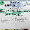 Samoset Middle School held their annual food drive and donated what they collected to the Hillary A. Bartlett Newsome Foundation on Thursday, Dec. 19, 2019. SENTINEL & ENTERPRISE/JOHN LOVE