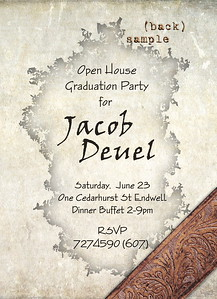 5x7 flat 2 sided graduation party invitation back