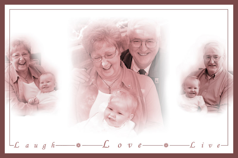 Grandparents photo montage