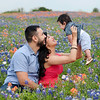 family bluebonnet portrait