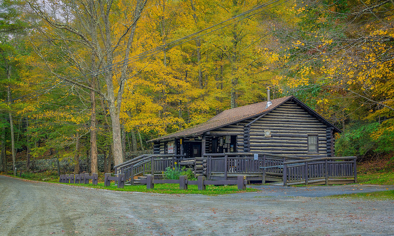 Park Office at Macedonia State Forest in Kent, Connecticut, USA.