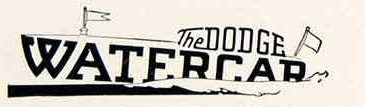 Dodge Watercar Logo, Detroit