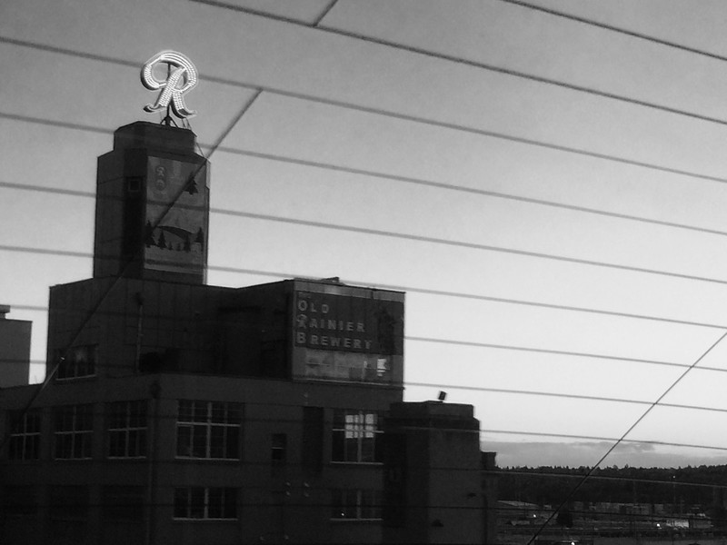 Rainier Brewery Through Rear Window