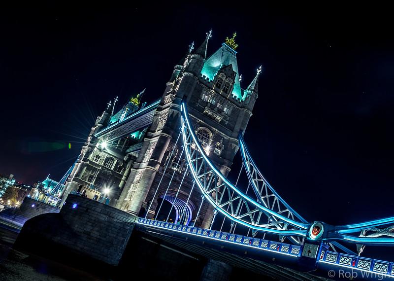 Tower Bridge at Night, London.