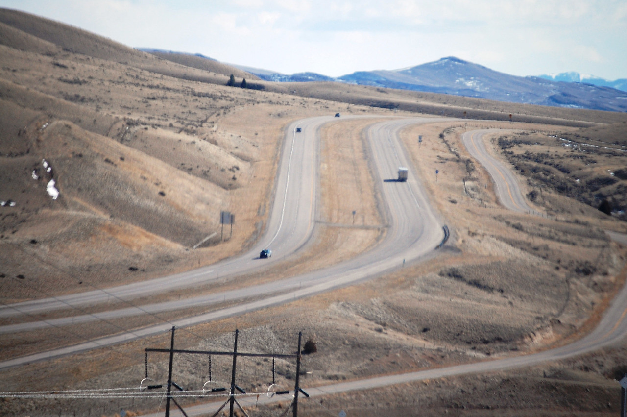 I-15 as seen from Divide, Montana