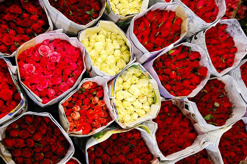 Night Flower Market<br /> Pak Klong Talad<br /> Bangkok